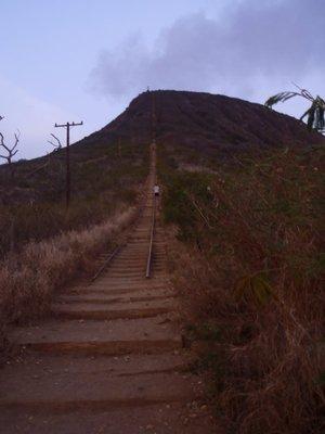Stairs straight up Koko Head!