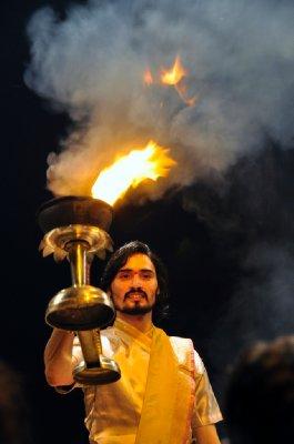 Hindu priest at the Ganges