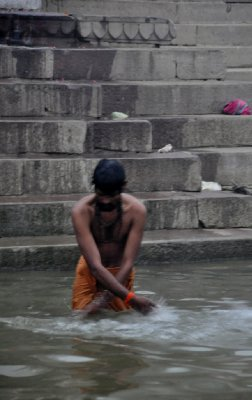 'Clensing' bath in the River Ganges