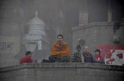 Meditation at the river Ganges