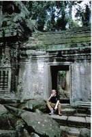 chillin out in Angkor Wat