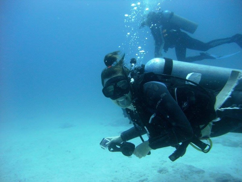 Diving in North Seymour Island, in the Galapagos, Ecuador