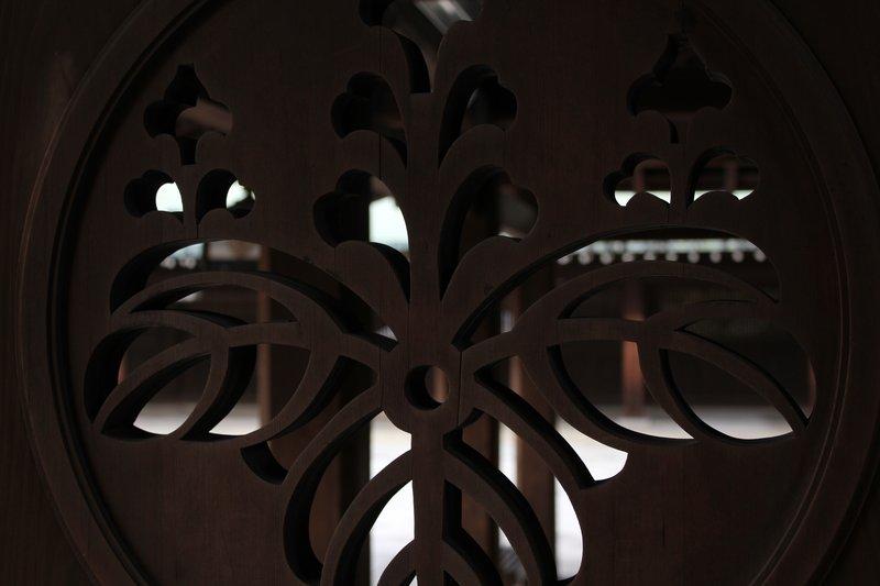 Wooden door window - meiji shrine