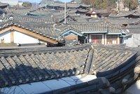 Traditional korean village rooftops