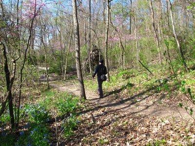 Matt on the trail
