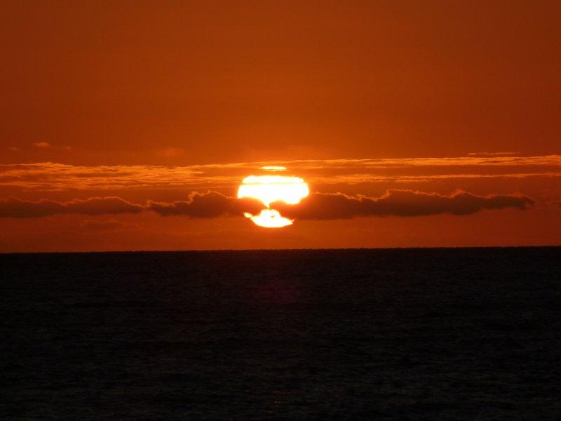 sunset at Glenelg beach