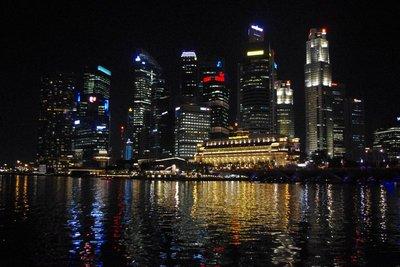 Singapore CBD by night