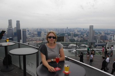 Sky bar on the Marina Bay Sands