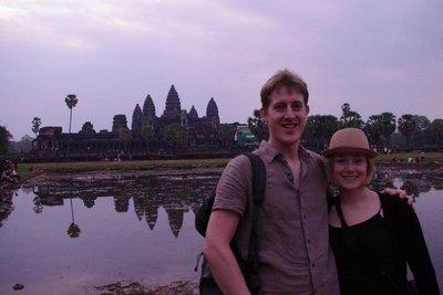 Angkor Wat at dawn. Too much cloud.