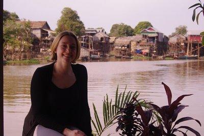 Kampong Phluk village in back ground
