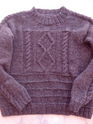 My Gansey sweater is all done...my own pattern