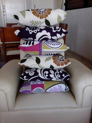 cushions sewn and ready for the Christmas hampers