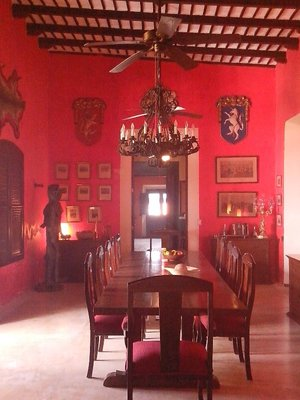 Dining room in the hacienda