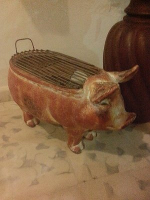 Andrea's new piggy BBQ