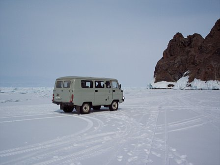 Russian Van on Froken Lake Baikal