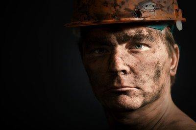 close-up portraitm worker man mine