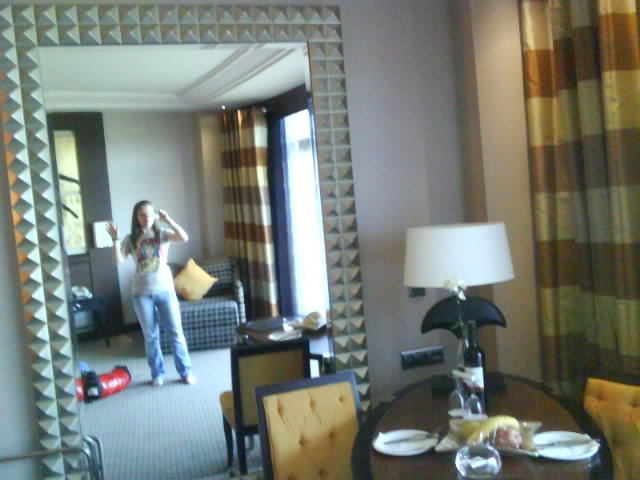 In Calista hotel room