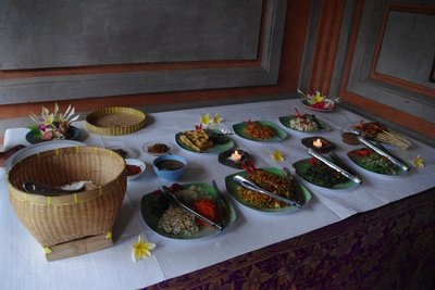 Balinese treats for lunch after our long hard cycle...