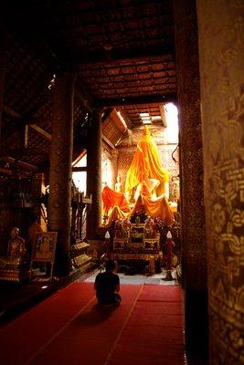 Wat XIeng Thong under restoration in Luang Prabang