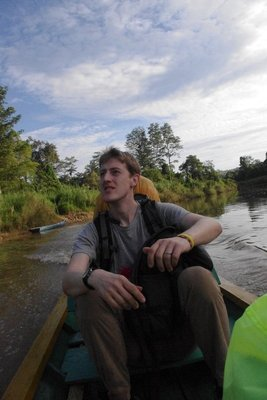 Journey up the river from Kabo to Kutai National Park