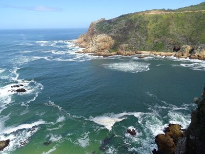The view from the lookout on Knysna Heads