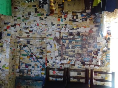 Wall of business cards