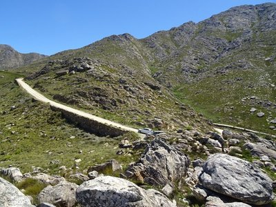 Part of the road on the way
