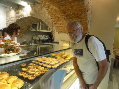 Don buying more pastries at a different bakery