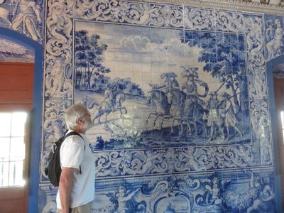 One of the many tile walls