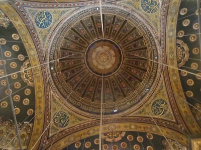 Inside the dome of the mosque