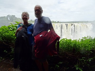 With Victoria Falls as a backdrop