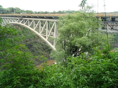 View of the bridge from the end of the trail