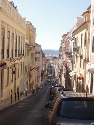 A view down one of the streets