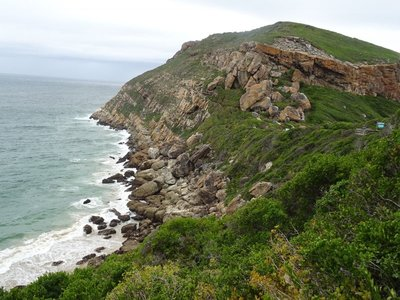 Looking along the side of the promontory