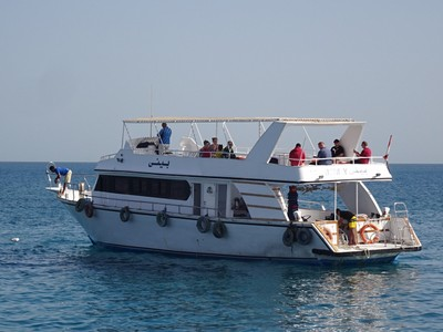 The snorkeling boat