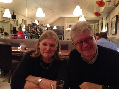 Helen and Neil at supper