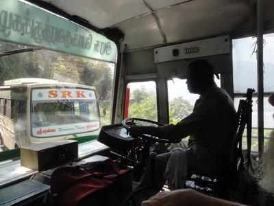 Bus drivers arguing