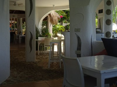 The dining area in the morning