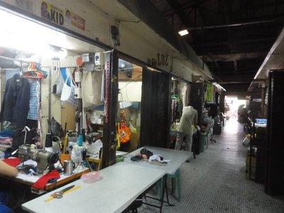 Seamstress row at the market
