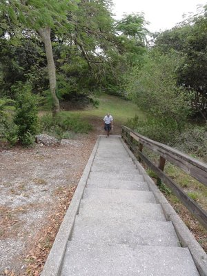 Steps to the top of the mound
