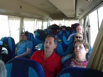 A bus load of sleepy people