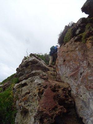 Climbing back up on the return trip