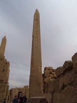 An obelisk at the Karnak Temple