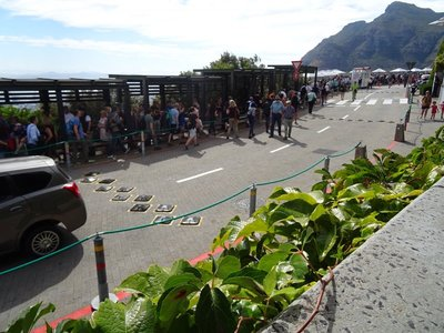 Part of the lineup for the cable car