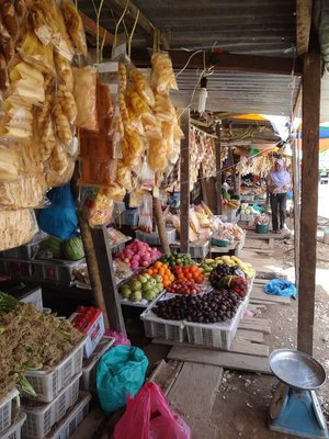 Fab food market on the roadside