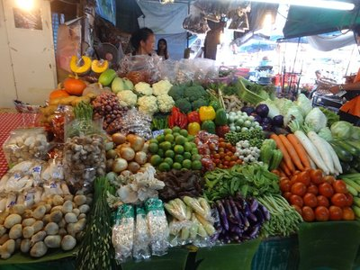 A trip to the local food market before the cookery class begun.