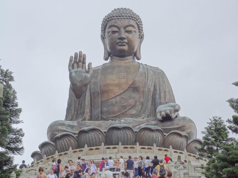 The huge bronze Buddha in Lantau Island, HK