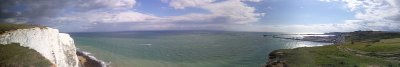 Panoramic view at the white cliffs