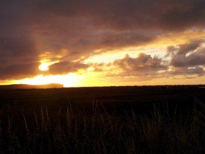 Sunset over Dunnet Head