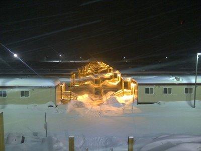Mount Milligan Camp at night